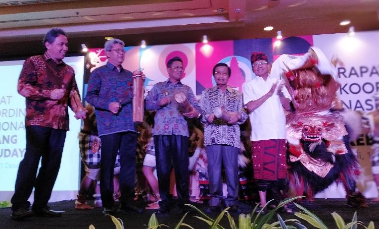 Rakornas kebudayaan Ditjen Kebudayaan Kemendikbud di HOTEL Westin Nusa Dua, Bali dibuka oleh Gubernur Bali Wayan Koster, 18-21 Desember 2019 - foto: Lokabali.com